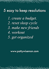 Five easy resolutions for the New Year